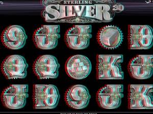 3D Sterling Silver Video Slot