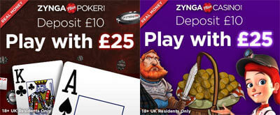 ZyngaPlusCasino and ZyngaPlusPoker with real money games on Facebook