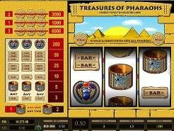 Treasures of Pharaohs 3 Line Slots