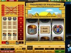 Treasures of Pharaohs 5 Line Slots